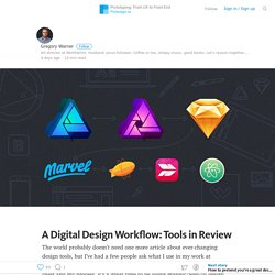 A Digital Design Workflow: Tools in Review