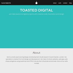 Toasted Digital - Web Design, London - Sam Clarke