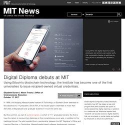 Digital Diploma debuts at MIT