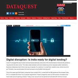 Digital disruption: Is India ready for digital lending?