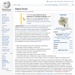 Digital divide - Wikipedia