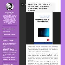 Qu'est-ce que le digital labor, par Dominique Cardon et Antonio Casilli – Le guide des égarés.