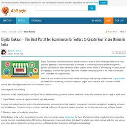Digital Dukaan – The Best Portal for Ecommerce for Sellers to Create Your Store Online In India