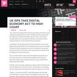 UK ISPs Take Digital Economy Act to High Court