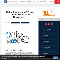 FUN - Digital Culture and Writing - Culture et Ecriture Numériques