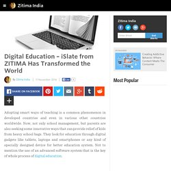 Zitima India - Digital Education – iSlate from ZITIMA Has Transformed the World