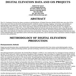 , Digital Elevation Data and Gis