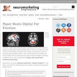 Paper Beats Digital For Emotion