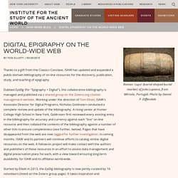 Digital Epigraphy on the World-Wide Web — Institute for the Study of the Ancient World