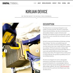 Digital Ethereal — Kirlian Device