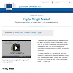 EU Commission priority – digital single market