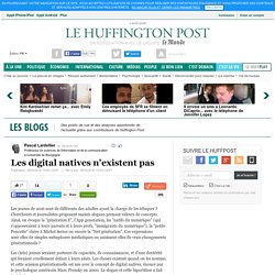 Les digital natives n'existent pas