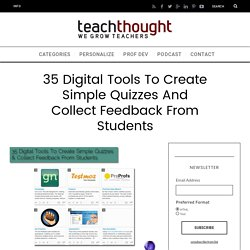 35 Digital Tools To Create Simple Quizzes And Collect Feedback From Students
