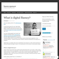 What is digital fluency?