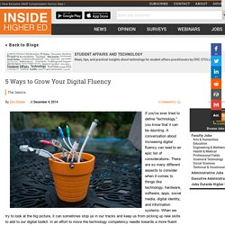 5 Ways to Grow Your Digital Fluency