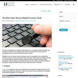 The Best Open Source Digital Forensic Tools – H-11 Digital Forensics