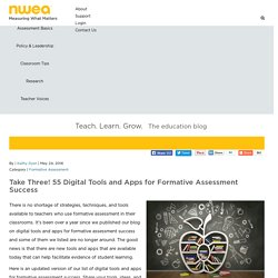Take Three! 55 Digital Tools and Apps for Formative Assessment Success