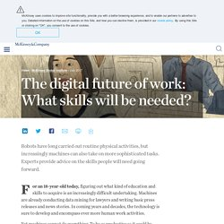The digital future of work: What skills will be needed?