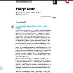 Les « digital natives » la génération multi-écrans - Philippe Ma