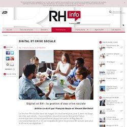 Digital et RH : la gestion d'une crise sociale