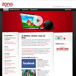Buy digital goods with your mobile – easy, safe mobile payments | Zong