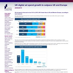UK digital ad spend growth to outpace US and Europe