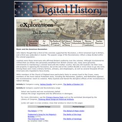 Digital History (Revolutionary War Music Lesson Ideas)