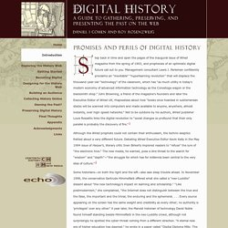 Promises and Perils of Digital History