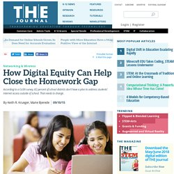 How Digital Equity Can Help Close the Homework Gap