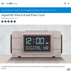 Digital HR: What Is It and What's Next?
