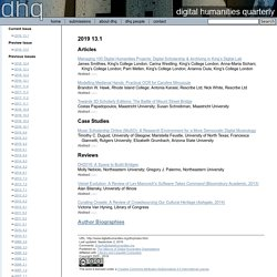 DHQ: Digital Humanities Quarterly: Spring 2011