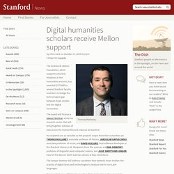 Digital humanities scholars receive Mellon support