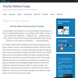 Digital Icebreakers – Teacher Reboot Camp