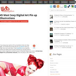 45 Most Sexy Digital Art Pin up Illustrations