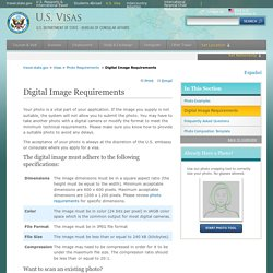 Digital Image Requirements