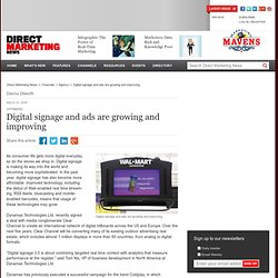 Digital signage and ads are growing and improving