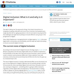Digital inclusion: What is it and why is it important?