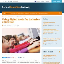 Using digital tools for inclusive education