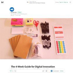 The 4-Week Guide for Digital Innovation — Notes from the Edge of Design