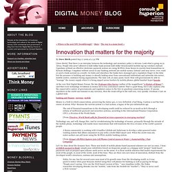 Digital Money Forum: Innovation that matters for the majority