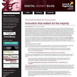 Digital Money Forum: Innovation that matters for the majority