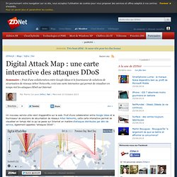 Digital Attack Map : une carte interactive des attaques DDoS