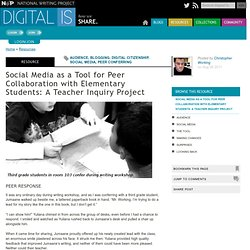 Social Media as a Tool for Peer Collaboration with Elementary Students: A Teacher Inquiry Project