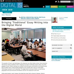 "Bringing ""Traditional"" Essay Writing into the Digital World"