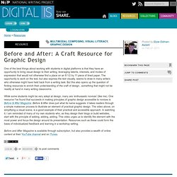 Before and After: A Craft Resource for Graphic Design