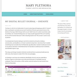 My Digital Bullet Journal – OneNote – Mary Plethora