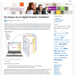 Så skapar du en digital lärobok i OneNote! - IKT-bloggen