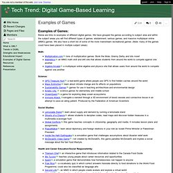 Tech Trend: Digital Game-Based Learning - Examples of Games