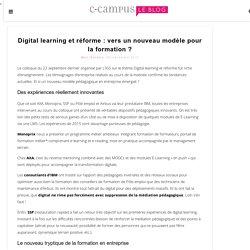 Digital learning et réforme : vers un nouveau modèle pour la formation ?
