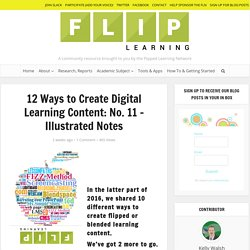 12 Ways to Create Digital Learning Content: No. 11 - Illustrated Notes - Flipped Learning Network Hub
